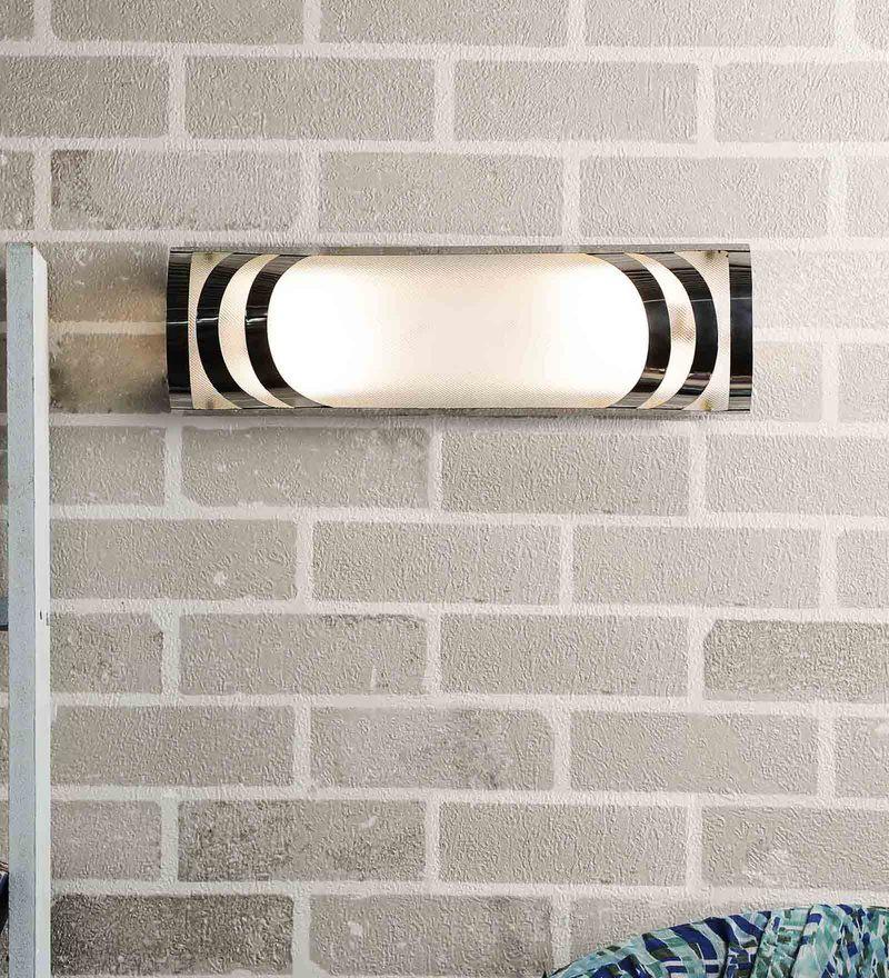 Silver Glass Bath Light by New Era