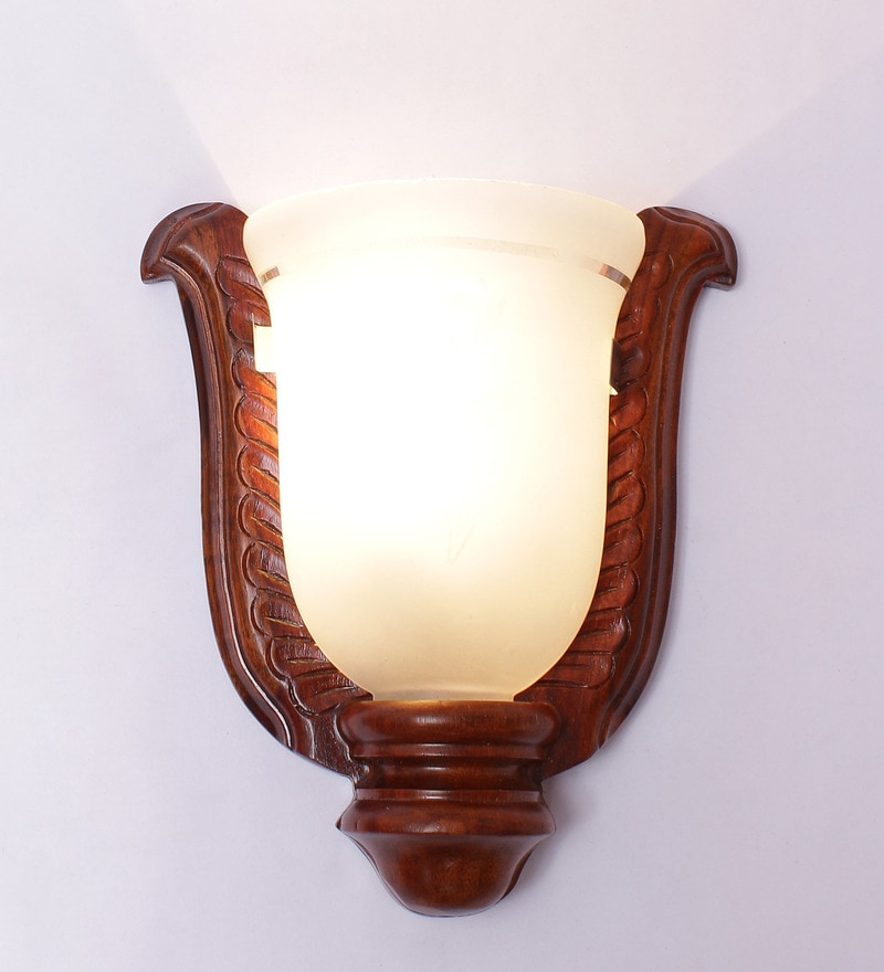 Brown Upward Single-shade Wall Mounted Uplighter by New Era