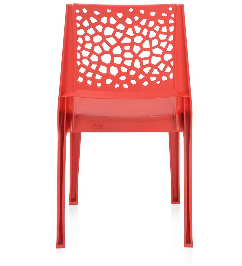Buy Nexus Plastic Chair In Bright Red Colour By Nilkamal Online