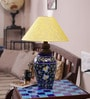 Neerja Blue Pottery Deep Blue Ceramic Handiya Lamp Base