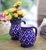 Neerja Blue Ceramic Pottery Jug