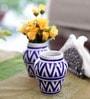 Neerja Pottery Blue & White Ceramic Vase