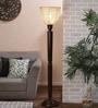 New Era Brown Bamboo Floor Lamp