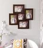 New Era Brown MDF & Mango Wood 19 x 0.5 x 19 Inch Collage Photo Frame - Set of 5