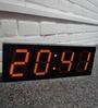 Nextime Black Plastic 20 x 1 x 7 Inch Big D LED Desk Clock