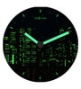 Nextime Multicolour Glass 11.8 Inch New York Round 3D Wall Clock