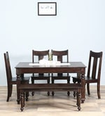 Nicolas Six Seater Dining Set in Warm Chestnut Finish