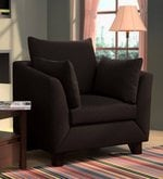 Canberra Charm One Seater Sofa in Chestnut Brown Colour
