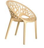 Crystal Designer Chair in Beige Colour
