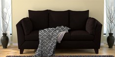 Canberra Charm Three Seater Sofa in Chestnut Brown Colour