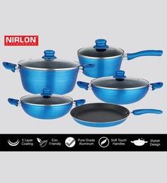Nirlon Blue Aluminium Cookware Combo Gift - Set Of 5