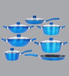 Nirlon Blue Aluminium Cookware Combo Gift - Set Of 7