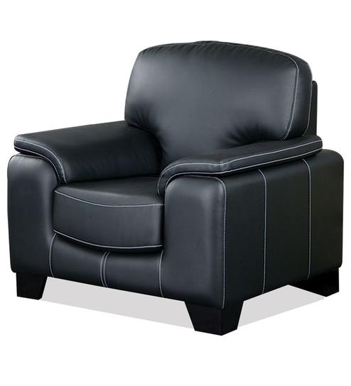 Nill Amber Black Single Seater Sofa
