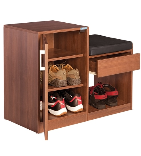 0a607bebfe2 Nilkamal Marvel Brown Shoe Rack by Nilkamal Online - Engineered Wood ...