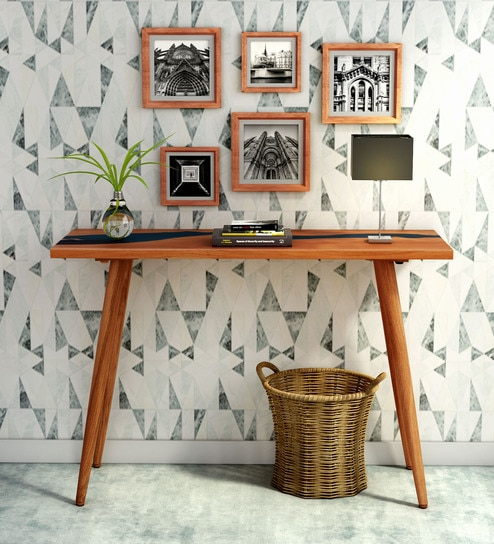Groovy Nile Solid Wood Console Table In Warm Walnut Finish By Bohemiana Gmtry Best Dining Table And Chair Ideas Images Gmtryco
