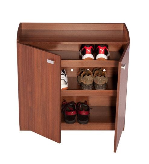 Nilkamal Corby Walnut Shoe Cabinet By Nilkamal Online Engineered
