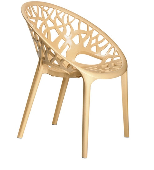 Crystal Designer Chair In Beige Colour By Nilkamal