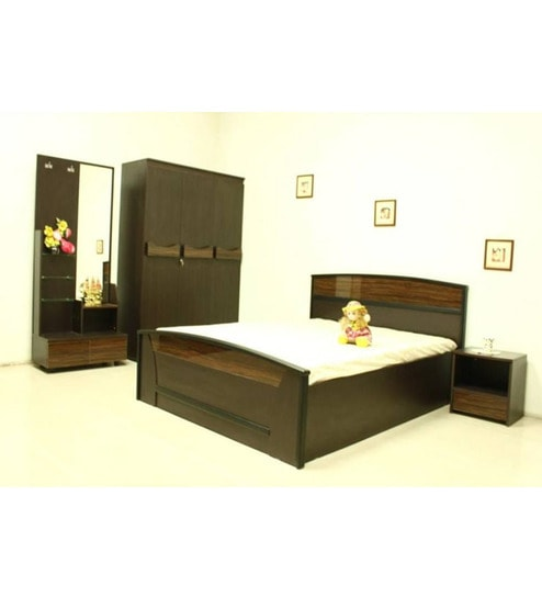Nilkamal Longston Wenge Bedroom Combo Set 3 Door Wardrobedressing