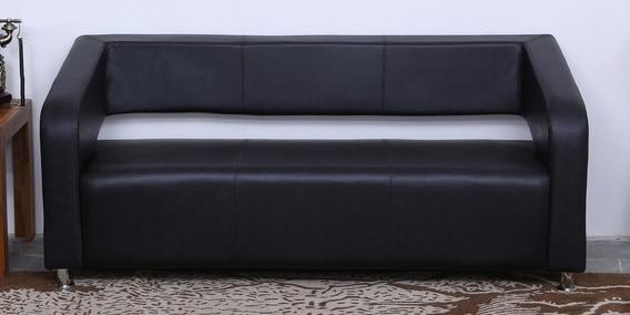 Awesome Nicholas 3 Seater Sofa In Matt Black By Athena Crafts Ibusinesslaw Wood Chair Design Ideas Ibusinesslaworg