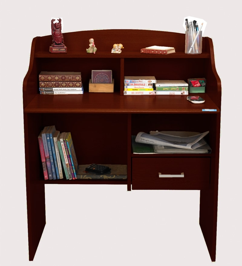 Nilkamal Julian Study Table Mahogany By Nilkamal Online Modern Furniture Pepperfry Product