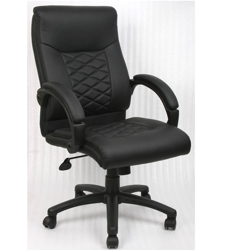 Shopping Online Furniture: Nilkamal Majestic Executive Black Office Chair By Nilkamal