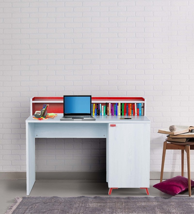 Niels Study Table in Beige and Red Finish by Alsapan