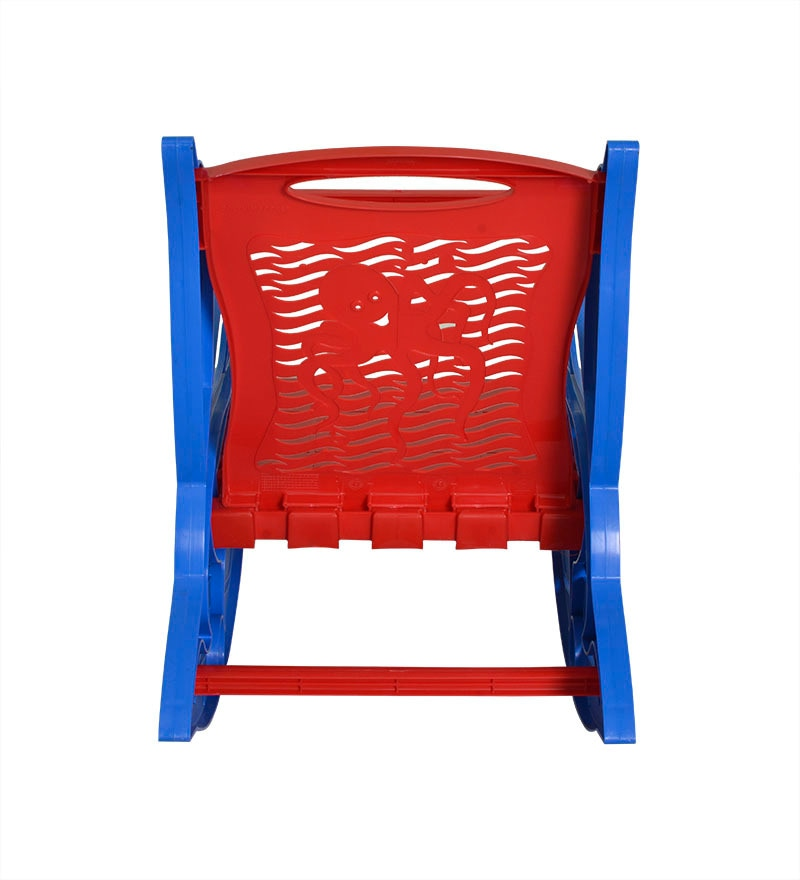 Buy Dolphin Kids Rocking Chair In Red And Blue By Nilkamal