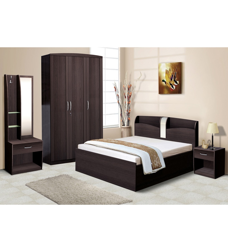 Nilkamal Imperial Wenge Bedroom Combo Set (3 Door Wardrobe