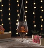 Brown Metal & Glass Hanging Lantern by Ni Decor
