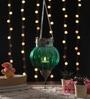 Ni Decor Green Metal & Glass Big Rolly Polly  Tea Light Holder
