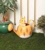 Ni Decor Multicolour Metal & Glass Cat Watercan