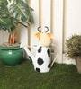 Ni Decor Multicolour Metal & Glass Cow Watercan