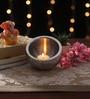 Ni Decor Multicolour Metal & Glass Tea Light Holder