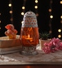 Orange Metal & Glass Lantern by Ni Decor