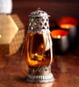 Ni Decor Orange Metal & Glass Lantern Candle Holder