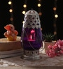 Ni Decor Purple Metal & Glass Lantern