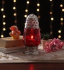 Red Metal & Glass Lantern by Ni Decor
