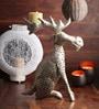 Ni Decor Silver Metal Decorative Moose Showpiece
