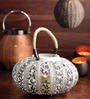 Ni Decor White Metal Decorative Lantern Candle Holder