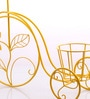 Ni Decor Yellow Metal Cycle Wall Decor