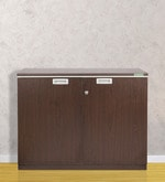 Nova Low Height Storage File Cabinet in Vermont Wenge Colour