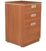 Nova Pedestal Storage in Walnut Regato Colour