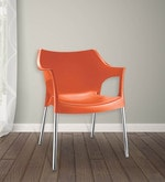 Novella Chair in Rust Colour