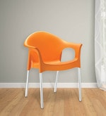 Novella Chair with Arms in Orange Colour