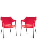 Novella Series - 10 Set of 2 Chairs in Red Color