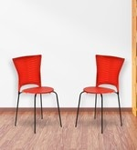 Novella Series - 14 Chair (Set of 2) in Red Colour