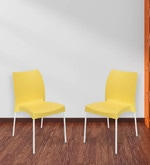 Novella Series - 7 (Set of 2) Chairs in Yellow Color