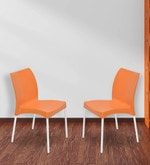 Novella Series - 7 Chair (Set of 2) in Orange Colour