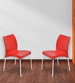 Novella Series - 7 Chair (Set of 2) in Red Colour