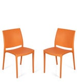 Novella Series - 8 Chair (Set of 2) in Orange Colour